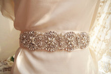 pearl and crystal bead Applique, bridal belt, Bridal sash Applique, rhinestone bead applique for wedding sash ZP068