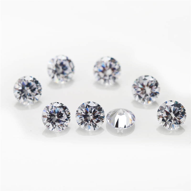 8 Cubic Zirconia Round White 1mm