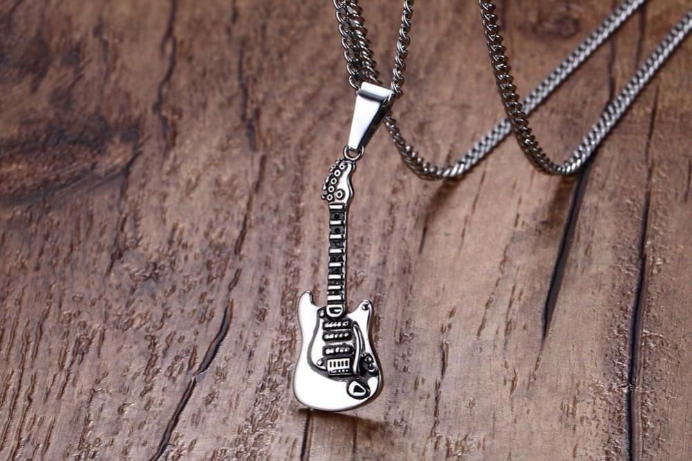 Men Guitar Pendant necklace 25