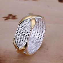 Free Shipping  silver plated Ring Fine Fashion Color Separation X Silver Jewelry Ring Women&Men Gift Finger Rings SMTR013