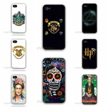5S Case Frida Kahlo Paintings Skull Harry Potter Logo Case Hard Plastic Cell Phone Cover for Apple iPhone 5 5S 5G