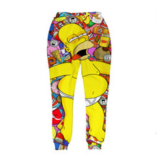 New Fashion Joggers Pants 3D Graphic Printed Funny Drunk Simpson Sweatpants for mens/womens Hip Hop style unisex Trousers