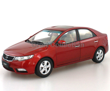 * Red 1:18 KIA Forte 2009 Rare Alloy MPV Model Diecast Cars Toy Car Gifts Craft Miniature Rare to Find High Collection Value