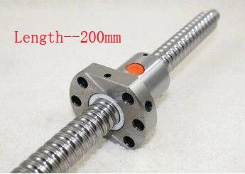 Ballscrew SFU1605 Pitch 5 mm Length 200 mm with Ball nut CNC 3D Printer Parts<br>
