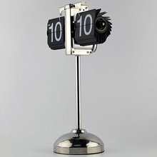 Adjustable Stand Flip Clock Modern Watch Analog Dial Creative Funny Timer(China)