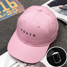 YOUTH Letters Embroidery Women Men The Heart Hip Hop Baseball Caps The Sun Smiling Face Gorras Pink Black Snapback Hats