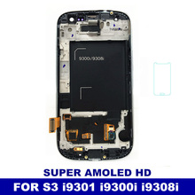Tested Working Super AMOLED LCD For Samsung Galaxy S3 Neo i9300i i9301 i9301i i9308i Phone Display Touch Screen Digitizer Frame(China)