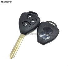 TEMREIPO 20pcs/lot Replacement Car Transponder Key shell For Toyota Keys Toyota Camry 2 button toy47 Blade