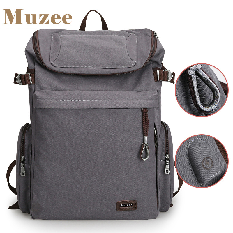 2017 New Muzee Brand Vintage backpack Large Capacity men Male Luggage bag canvas travel bags Top quality travel duffle bag<br>
