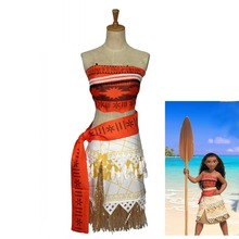 Movie Moana Princess Dress Cosplay Costume Girl Christmas Party Dresses