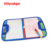 1 Pcs 46X29.5cm Multi-color Water Doodle Mat with 1 Magic Pen for kids 1349(China)