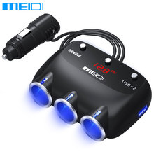 MEIDI Car Lighter Usb Charger 5V 4.8A Car Voltage Diagnostic LED Screen Car-Charger Dual USB Car Charger For Mobile Phone(China)