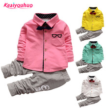 Children Boys Clothes Sets 2018 Spring Kids Clothes Boys Gentleman t-shirt +Pants 2 Pcs baby Boys Toddler Suit 1 2 3 4 years