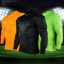 New sports safety protection thicken gear Rugby soccer goalkeeper jerseys knee pads outdoor tops elbow football padded protector(China)