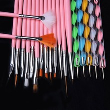 Nail Art Tools 20PCS Polish Drawing Brushes Marbleizing Desires Dotting Tools Patinting Pens For Nail Design Manicure Sets