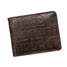 Letter Embossed Leather Wallet Women Bad Mother F*cker BMF Purse & Wallet Money Bag ID Credit Card Holder Wallet carteira mujer