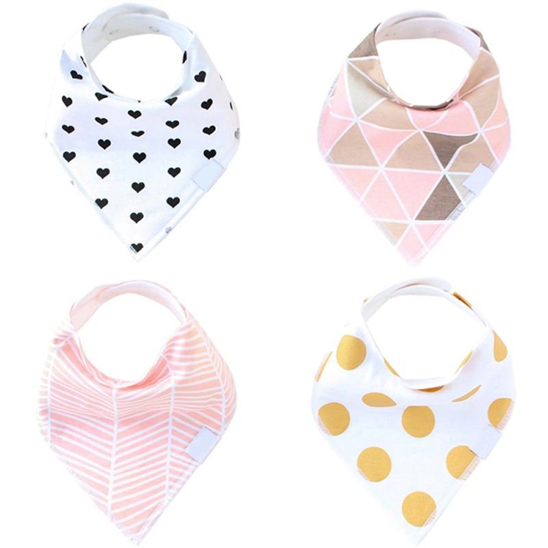 Bandana Baby Bibs For Girls Cute Pretty Princess 100% Pure Cotton Super-Stylish Anti-Smell Anti-Bacterial Apron Quick Dry Towel(China)