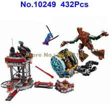 10249 432pcs Guardians Of The Galaxy Groot Rocket Raccoon Bela Building Block Compatible 76020 Brick Toy(China)