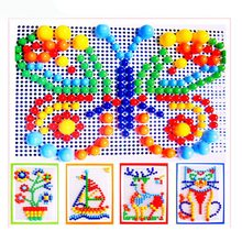 Hot Selling DIY Mosaic Mushroom Nail Kit Puzzle Toys Plastic Composite Picture Puzzle Children Early Educational Toys