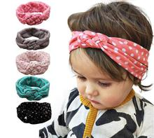 hairstyles Hand-knit Children Accessories Baby Girl Cross Stretch Cute Kids Cotton Headband Bebes Acessorios Para Cabelo A036-16