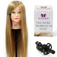 "Styling Mannequin Head 26"" Manikin Practice Model 70% Aniaml Hair Hairdressing Training Head Hairstyles Doll Salon Model + Clamp(China)"