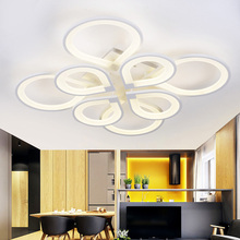 modern ceiling lights ring deckenleuchten lamparas de techo circles led lighting living room bedroom acrylic kitchen lamp