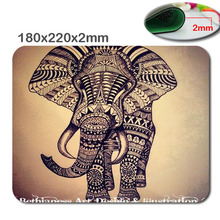 fast printing Elephant vintage modello di stile anti-slip mousepad computer mouse pad mat per optical mouse trackball mouse(China)