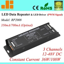 Free Shipping Constant Current power amplifier, pwm data repeater & LED driver 350mA/700mA (Optional) RP2008