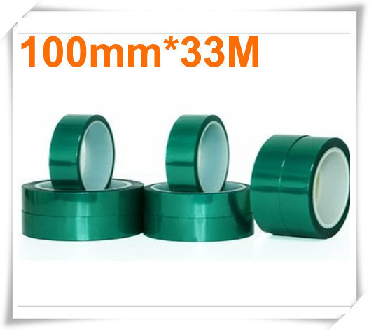 high quality 0.06mm*100mm*33m Green PET Tape Hi-Temp PCB Solder Mask<br>