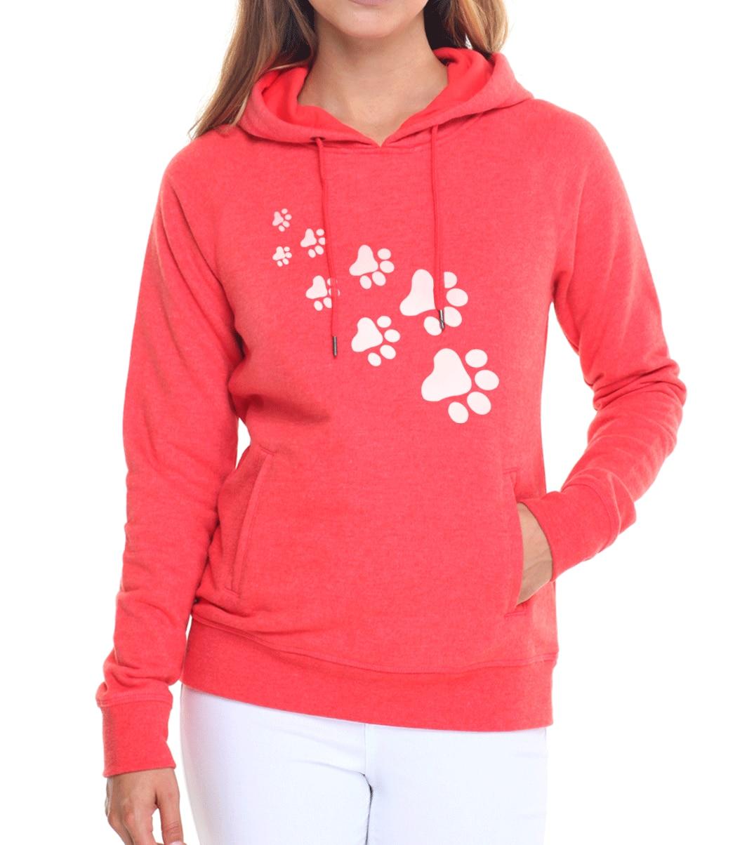 Casual fleece autumn winter sweatshirt pullovers 17 kawaii cat paws print hoodies for Women black pink brand tracksuits femme 10