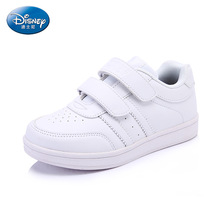 Disney White Autumn Shoes Fashion Comfortable Casual Style Flat PU Leather Sport Shoes Size 26/31/32 dS2074(China)