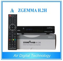 2pcs/lot Original ZGEMMA H .2H with bcm7362 Dual Core DVB-S2 + DVB-T2/C Hybrid tuner Combo Satellite Receiver Enigma2 Linux HD