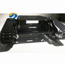 Official iSmaring black Caeser TS600 4WD Damping Tracked Metal Tank Car Chassis Smart Robot Toy Diy Tracked Crawler Caterpilla