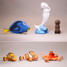 6Pcs/Set Cartoon Finding Nemo 2 Finding Dory Action Figures PVC Doll Resin Collection Adorable Model kids Toys Gifts