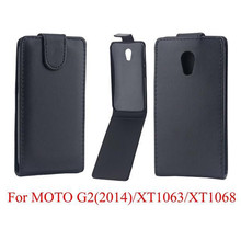 Phone Bags Cover For Motorola Moto G2 phone case Back coque PU leather Flip Vertical Up-Down Open skin pouch