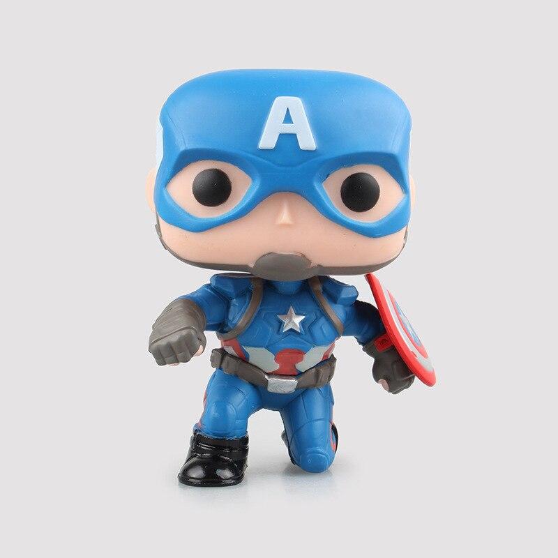 Anime FUNKO POP Marvels Captain America Civil War Figure Captain America Doll Vinyl Bobble Head PVC Collection Model Toy 4<br><br>Aliexpress