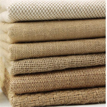 150cm width Natural Hemp Fabric linen Jute Fabric Cloth Garments Window Desk Crafts Accessories G1509