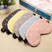 1 stks Soft Travel Sleep Ice Rest Aid Oogmasker Cover Eye Patch Slaapmasker Case Leuke Vijf Ster & Dot Patroon Slapen EyePatch