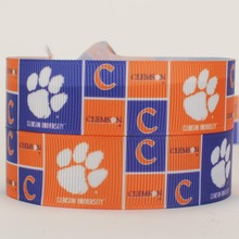 NEW 50 yards sports team ribbon with dog paw printed grosgrain ribbons free shipping(China)