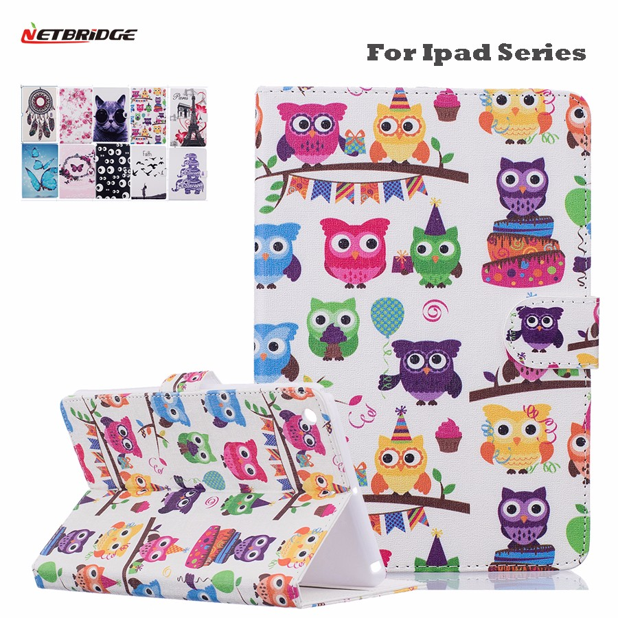 For Apple Ipad Mini 4 Case 7.9 Inches PU Leather Smart Cover Shell With Wallet Pocket Stand Holder Folio Flip Funny Pattern<br><br>Aliexpress