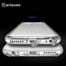 Case For iPhone 6 / 6S Crystal Clear Cover Soft Silicone TPU Phone Bag Dust Plug For iPhone 6 Plus / 6S Plus Cover Case ARTISOME