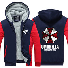 Resident Evil sweatshirt umbrella jacket 2016 autumn and winter loaded velvet thickening male cardigan hoodies men size clothes