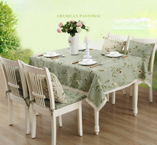 Printed American garden style table cloth good for Home,Hotel,Wedding,Party,Banquet......