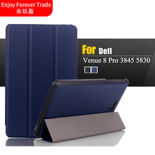 Leather Magnetic Folio Custer Book Case Stand Cover For Dell Venue 8 Pro 3845 5830 8 inch Tablet/For Dell Venue 8 3840 Tablet(China)