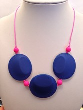 HOT!!! 10PCS/LOT NEW Silicone Teething Necklace Nursing Necklace silicone pendant crochet necklace free shipping