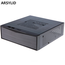ARSYLID SKC-M05 HTPC mini-ITX thin computer case USB2.0 support USB3.0 horizontal mini case 20.5*19*6cm 60W 84W 120W 150W(China)
