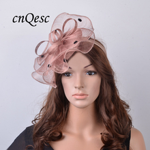 NEW Wholesale Attractive multiple color Beige black Sinamay fascinator hat for Melbourne Cup,Ascot Races,kentucky derby,wedding.