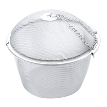 Extra Large Stainless Steel Twist Lock Mesh Tea Ball Tea Infuser with Hook Chain(China)