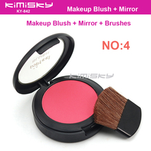 Kimisky No.4 Blush Modified  Face Blush 1pcs Blushes Makeup Blusher Beauty product Make up blush  6g Red Color with box pack