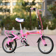 16inch foldable bicycle Variable speed folding High carbon steel bike for man and woman Shock absorption bicycle Student bike